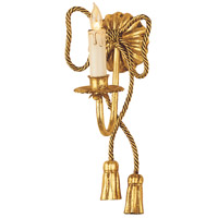 Wildwood Lamps Rope And Tassels Sconce in Florentine Iron Art 311 photo thumbnail