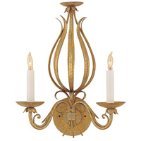 Wildwood Lamps Gold And Scrolls Sconce in Florentine Iron Art 313