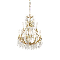 Wildwood Lamps Crystal And Gold Chandelier in Florentine Art 345