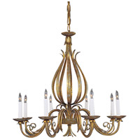 Wildwood Lamps Gold And Scrolls Chandelier in Florentine Iron Art 347 photo thumbnail