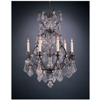 Wildwood Lamps Crystal Chandelier in Florentine Bronze And Lead Crystal 355