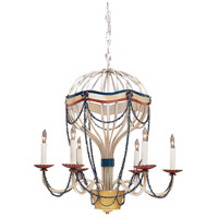Wildwood Lamps Around The World Chandelier in Artist Work On Wrought Iron 364