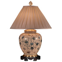 Wildwood Lamps Leaf And Scroll Table Lamp in Hand Painted Kutaniware 3646 photo thumbnail