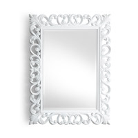 Chelsea House by Wildwood Lamps CM Mirror in White Lacquer 380956