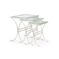 Chelsea House by Wildwood Lamps CM Table in Antique Silver Leaf 382219