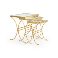 CM 24 X 18 inch Antique Gold Leaf Table Home Decor