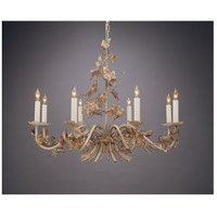 Wildwood Lamps Iron Leaves Chandelier in Antique Glazed Wrought Iron 383