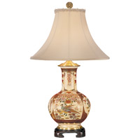 Wildwood Lamps Satsuma Sunrise Table Lamp in Signature Kutani Crackleware 3892