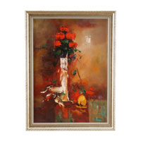Wildwood Lamps Miscellaneous Hand Painted Framed Oil Painting - Wood Frame 394957