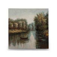 Wildwood Lamps Signature Oil Painting on Canvas 394974