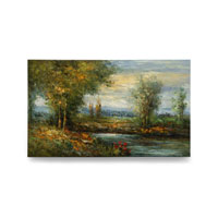 Wildwood Lamps Signature Oil Painting on Canvas 394980 photo thumbnail