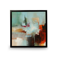 Wildwood Lamps Signature Oil Painting on Canvas with Frame 394991