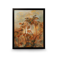 Wildwood Lamps Signature Oil Painting on Canvas with Frame 394993