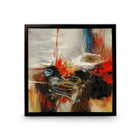 Wildwood Lamps Signature Oil Painting on Canvas with Frame 394996