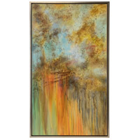Autumn Storm Silver Frame Oil Painting