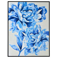 Pretty and Blue Black Canvas, Framed Oil