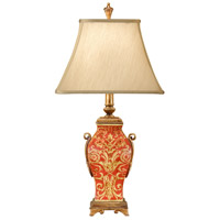 Wildwood Lamps Damask With Stripes Table Lamp in Hand Painted Porcelain 46060