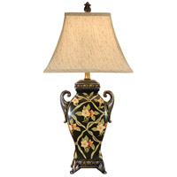 Wildwood Lamps Ribbons And Flowers Table Lamp in Hand Painted On Porcelain 46063