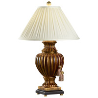 Wildwood Lamps Fluted Urn Table Lamp in Florentine Finish 4619
