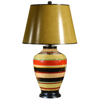 Pretty Rings 30 inch 100 watt Hand Painted Table Lamp Portable Light