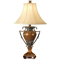 Wildwood Lamps Crisscross Urn Table Lamp in Hand Finished 46213