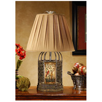 Wildwood Lamps Cage Of Birds Table Lamp in Hand Painted Wrought Iron And Wood 46311 photo thumbnail