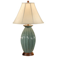 Wildwood Lamps Simple Flutes Table Lamp in Crackle Glaze Celadon 46361