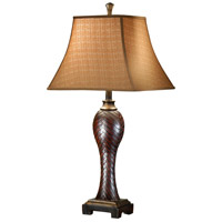 Wildwood Lamps Woven Leather Table Lamp in Hand Finished 46369