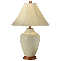 Wildwood Lamps Crackle Beige Table Lamp in Hand Glazed Porcelain 46373