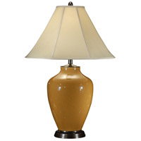 Wildwood Lamps Crackle Cognac Table Lamp in Hand Glazed Porcelain 46377