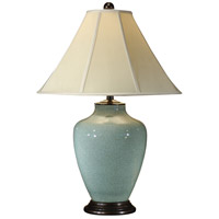 Wildwood Lamps Crackle Celadon Table Lamp in Hand Glazed Porcelain 46378