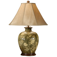 Wildwood Lamps 46389 Flowers 31 inch 100 watt Hand Painted Acrylic Lacquer Table Lamp Portable Light photo thumbnail