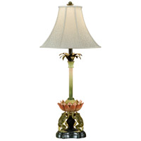 Wildwood Lamps Frogs And Lotus Table Lamp in Hand Decorated 46412