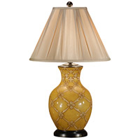 Wildwood Lamps Flower Net Table Lamp in Hand Decorated Porcelain 46423 photo thumbnail