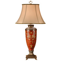 Wildwood Lamps Teardrops Bell Table Lamp in Hand Decorated Porcelain & Faux Bronze Castings 46449