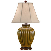 Wildwood Lamps Fluted Stoneware Table Lamp in Hand Glazed Porcelain 46451