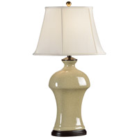 Wildwood Lamps Broad Shoulders Table Lamp in Antique Crackle Glaze Porcelain 46452 photo thumbnail