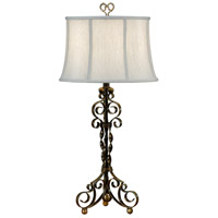 Wildwood Lamps Curly Iron Table Lamp in Antique Patina 46462 photo thumbnail
