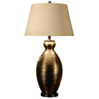 Wildwood Lamps Gold Grooves Table Lamp in Hand Finished Old Gold 46466 photo thumbnail