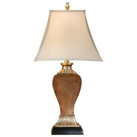 Wildwood Lamps Textured Square Table Lamp in Faux Bronze And Leather 46477