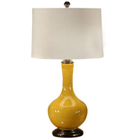 Wildwood Lamps Water Bottle Table Lamp in Crackle Mustard Glaze 46495 photo thumbnail