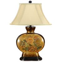 Wildwood Lamps Oriental Flowers Table Lamp in Hand Painted Porcelain 46531 photo thumbnail