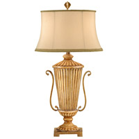 Wildwood Lamps Ribbed Vase Table Lamp in Hand Colored 46578