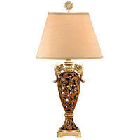 Wildwood Lamps Gold Arms Table Lamp in Hand Colored 46592 photo thumbnail