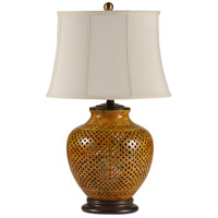 Wildwood Lamps Gradient Colors Table Lamp in Hand Incised Porcelain 46599