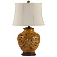 Wildwood Lamps Gradient Colors Table Lamp in Hand Incised Porcelain 46599