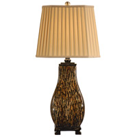 Streaks Of Color 32 inch 0 watt Hand Decorated Porcelain Table Lamp Portable Light