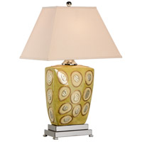 Wildwood 46627 MarketPlace 31 inch 100 watt Hand Decorated/Celadon Glaze Table Lamp Portable Light