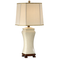 Wildwood Lamps Old White Table Lamp in Hand Glazed Crackle Porcelain 46629 photo thumbnail