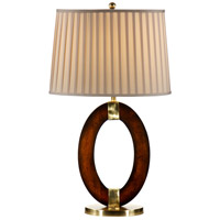 Wildwood Lamps Oh In Wood Table Lamp in Walnut Finished Wood 46632